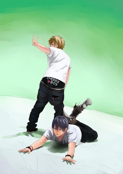 Tags: Anime, Pixiv Id 5057147, Free!, Nanase Haruka (Free!), Tachibana Makoto, Mobile Wallpaper, Pixiv