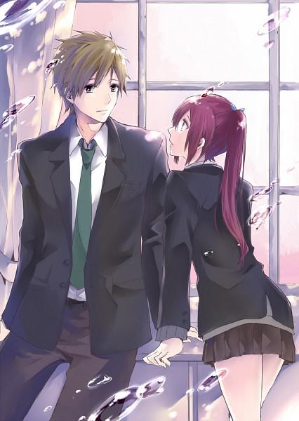 Tags: Anime, Mayu (Pixiv1158463), Free!, Tachibana Makoto, Matsuoka Gou, Mobile Wallpaper, Pixiv