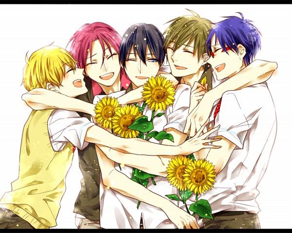 Tags: Anime, Namikawa (Pixiv1039631), Free!, Matsuoka Rin, Ryuugazaki Rei, Hazuki Nagisa, Nanase Haruka (Free!), Tachibana Makoto, Pixiv