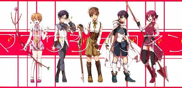Tags: Anime, Pixiv Id 1955711, Free!, Nanase Haruka (Free!), Tachibana Makoto, Matsuoka Rin, Ryuugazaki Rei, Hazuki Nagisa, Mahou Shoujo Madoka☆Magica (Parody), Tomoe Mami (Cosplay), Kaname Madoka (Cosplay), Miki Sayaka (Cosplay), Akemi Homura (Cosplay)