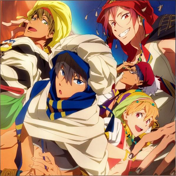 Tags: Anime, Kyoto Animation, Free!, Nanase Haruka (Free!), Tachibana Makoto, Matsuoka Rin, Ryuugazaki Rei, Hazuki Nagisa, Official Art, Scan, PNG Conversion