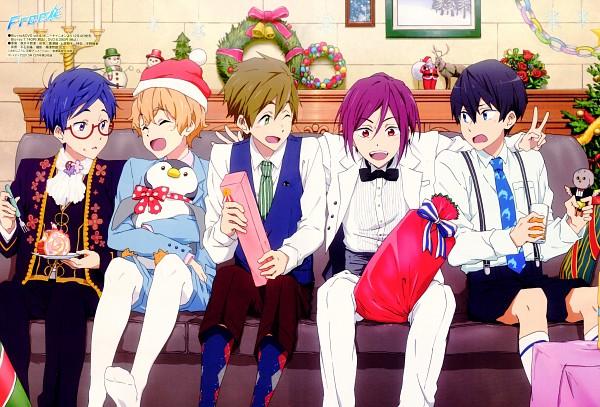 Tags: Anime, Kyoto Animation, Free!, Nanase Haruka (Free!), Tachibana Makoto, Matsuoka Rin, Ryuugazaki Rei, Hazuki Nagisa, Official Art, Scan