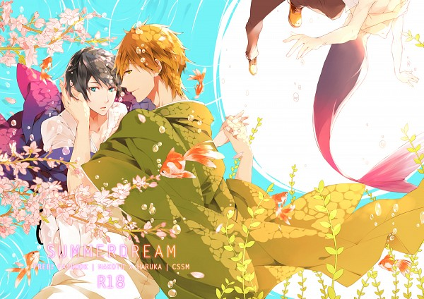 Tags: Anime, Pixiv Id 2104168, Free!, Tachibana Makoto, Nanase Haruka (Free!), Fanart, Doujinshi Cover, Fanart From Pixiv, Pixiv