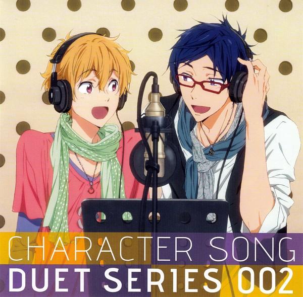 Tags: Anime, Kyoto Animation, Free!, Hazuki Nagisa, Ryuugazaki Rei, Covering Ears, Scan, CD (Source), Official Art, ReiGisa