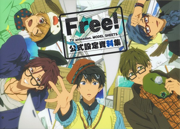 Tags: Anime, Nishiya Futoshi, Kyoto Animation, Free!, Tachibana Makoto, Matsuoka Rin, Ryuugazaki Rei, Hazuki Nagisa, Nanase Haruka (Free!), Official Art, Scan