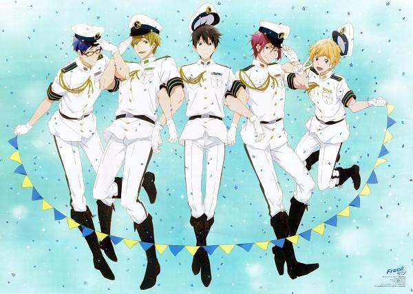 Tags: Anime, Iwasaki Nami, Kyoto Animation, Free!, Nanase Haruka (Free!), Tachibana Makoto, Matsuoka Rin, Ryuugazaki Rei, Hazuki Nagisa, Official Art, Scan