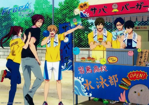 Tags: Anime, Kyoto Animation, Free!, Hazuki Nagisa, Nanase Haruka (Free!), Tachibana Makoto, Matsuoka Gou, Matsuoka Rin, Ryuugazaki Rei, Official Art, Scan