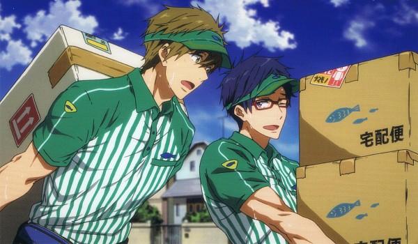 Tags: Anime, Kyoto Animation, Free!, Tachibana Makoto, Ryuugazaki Rei, Wallpaper, End Cards, Official Art, Scan