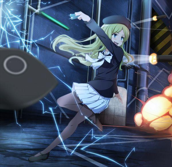 Tags: Anime, Pixiv Id 57109, To Aru Majutsu no Index, Frenda Seivelun, Factory, Explosion, Rocket