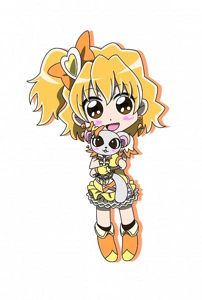 Tags: Anime, MT2Y-Monyo, Fresh Precure!, Yamabuki Inori, Tarte, Cure Pine, Cure Pine (Cosplay), Ferret, Yellow Footwear, Pixiv, Fanart, Fanart From Pixiv