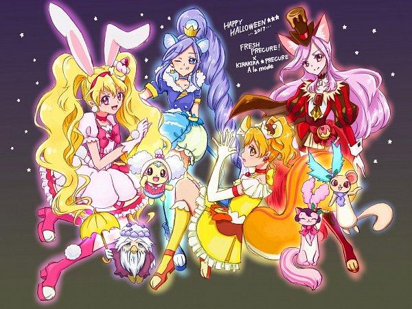 Tags: Anime, Fpminnie1, Fresh Precure!, Cure Passion, Azukina, Cure Pine, Higashi Setsuna, Tarte, Yamabuki Inori, Chiffon (Pretty Cure), Aono Miki, Cure Peach, Momozono Love