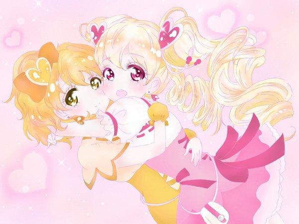 Tags: Anime, Pixiv Id 26237105, Fresh Precure!, Yamabuki Inori, Momozono Love, Cure Peach, Cure Pine, Fanart, Fanart From Pixiv, Pixiv