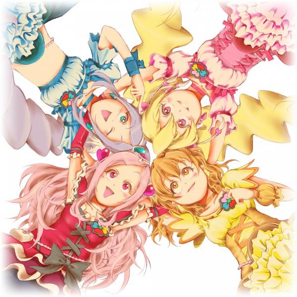Tags: Anime, Fresh Precure!, Yamabuki Inori, Higashi Setsuna, Aono Miki, Cure Peach, Momozono Love, Cure Berry, Cure Pine, Cure Passion, Fanart From Pixiv, Fanart, Pixiv