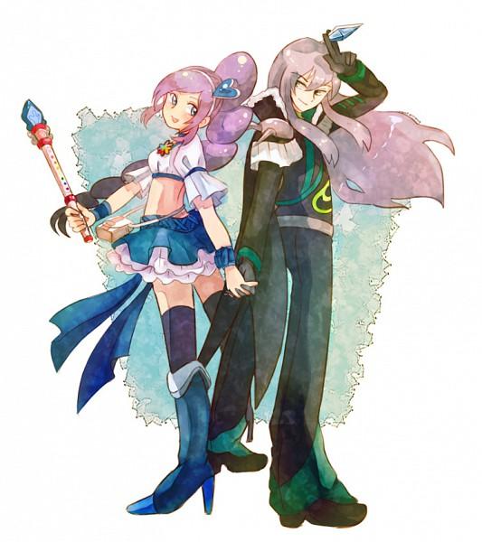 Tags: Anime, Pixiv Id 210786, Fresh Precure!, Aono Miki, Minami Shun, Soular, Cure Berry, Pixiv, Fanart, Fanart From Pixiv