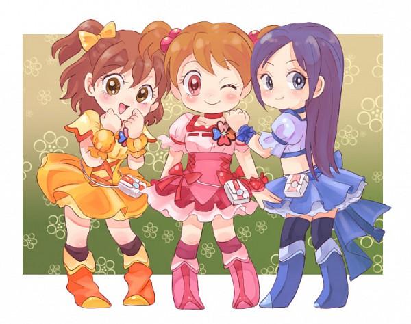 Tags: Anime, Pixiv Id 210786, Fresh Precure!, Aono Miki, Momozono Love, Yamabuki Inori, Cure Pine (Cosplay), Cure Peach (Cosplay), Cure Berry (Cosplay), Pixiv, Fanart From Pixiv, Fanart