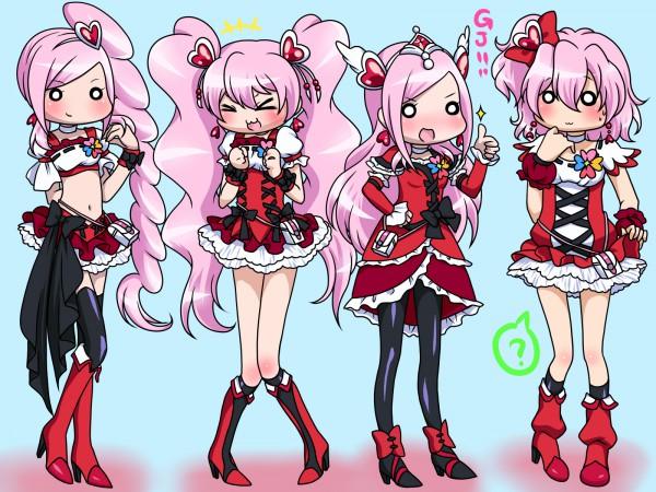Tags: Anime, 0417nao, Fresh Precure!, Aono Miki, Cure Peach, Momozono Love, Cure Berry, Cure Pine, Cure Passion, Yamabuki Inori, Higashi Setsuna, Cure Passion (Cosplay), Fanart