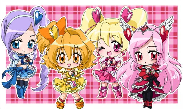 Tags: Anime, Imahia, Fresh Precure!, Cure Berry, Cure Pine, Cure Passion, Yamabuki Inori, Higashi Setsuna, Aono Miki, Cure Peach, Momozono Love, Fanart, Pixiv