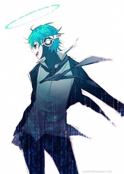 Tags: Anime, Wenqing Yan, Fisheye Placebo, Cyber Frey, Frey (Fisheye Placebo), Binary Numbers, Original, Mobile Wallpaper