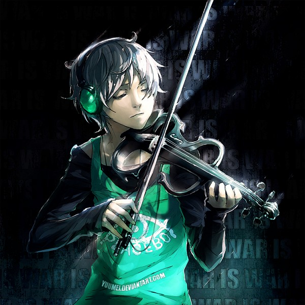 Tags: Anime, Wenqing Yan, Frey (Fisheye Placebo), Transparent Musical Instrument, Playing Violin, Playing, Transparent Object, deviantART, Original