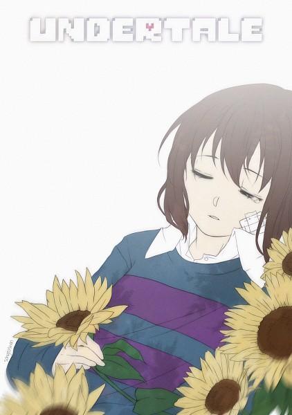 Tags: Anime, TsukiGesshoku, Undertale, Frisk, Bandaged Cheek, Fanart, Mobile Wallpaper, Fanart From DeviantART, PNG Conversion, deviantART