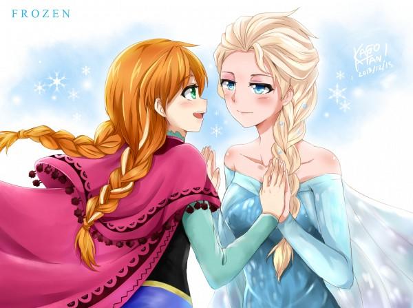 Tags: Anime, Pixiv Id 2744065, Frozen (Disney), Elsa the Snow Queen, Princess Anna of Arendelle, Pixiv, Fanart, Fanart From Pixiv, Disney