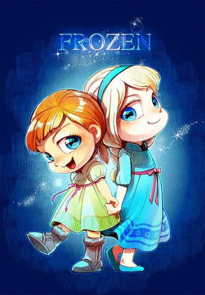 Tags: Anime, Pixiv Id 203837, Frozen (Disney), Princess Anna of Arendelle, Elsa the Snow Queen, Pixiv, Fanart, Mobile Wallpaper, Fanart From Pixiv, Disney
