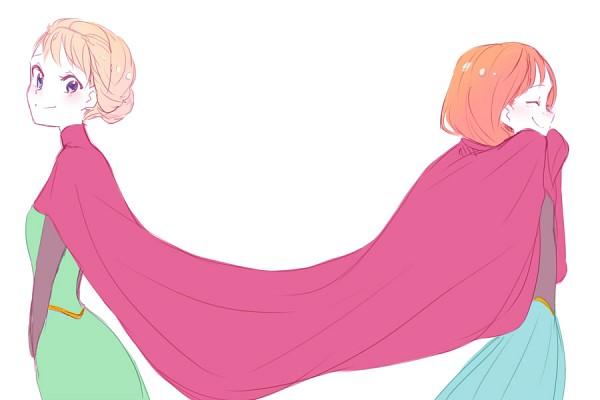 Tags: Anime, sou (Pixiv2760884), Frozen (Disney), Princess Anna of Arendelle, Elsa the Snow Queen, Fanart From Pixiv, Disney, Pixiv, Fanart