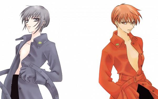 Tags: Anime, Takaya Natsuki, Fruits Basket, Sohma Yuki, Sohma Kyo, Wallpaper