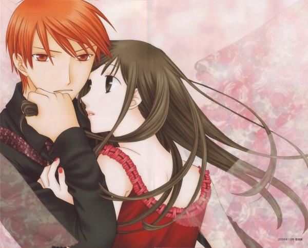Tags: Anime, Takaya Natsuki, Fruits Basket, Sohma Kyo, Honda Tohru, Official Art