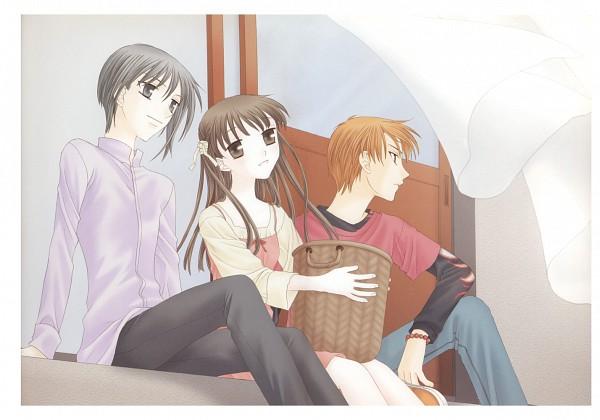 Tags: Anime, Takaya Natsuki, Fruits Basket, Sohma Kyo, Sohma Yuki, Honda Tohru, Shouji