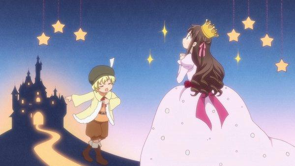 Tags: Anime, Fruits Basket, Honda Tohru, Sohma Momiji, Gown, Wallpaper, Screenshot