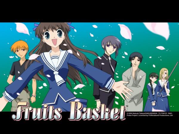 Tags: Anime, Takaya Natsuki, Fruits Basket, Sohma Kyo, Sohma Yuki, Sohma Shigure, Honda Tohru, Uotani Arisa, Hanajima Saki