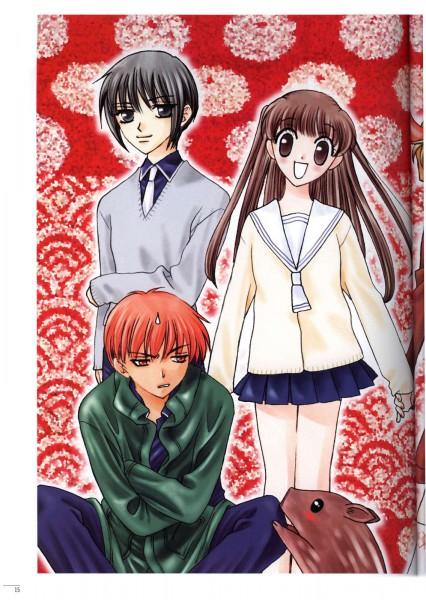 Tags: Anime, Takaya Natsuki, Fruits Basket, Sohma Yuki, Honda Tohru, Sohma Kagura (boar), Sohma Kagura, Sohma Kyo
