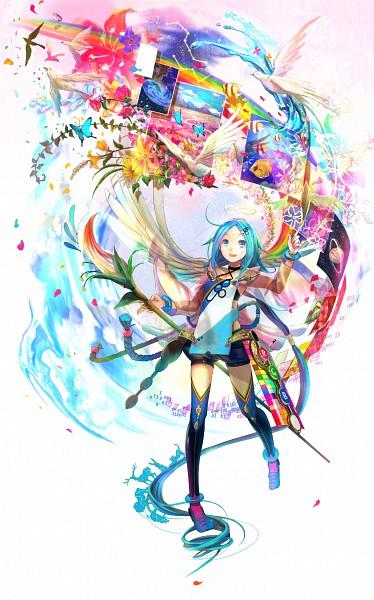 Tags: Anime, Fuji Choko, Brush, Painting (Object), Pixiv, Mobile Wallpaper, Original, Paint My Life