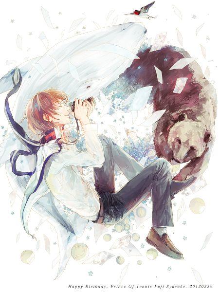 Tags: Anime, Sanya, Tennis no Ouji-sama, Fuji Shuusuke, Tennis Ball, Whale, Fanart, Pixiv, Seigaku