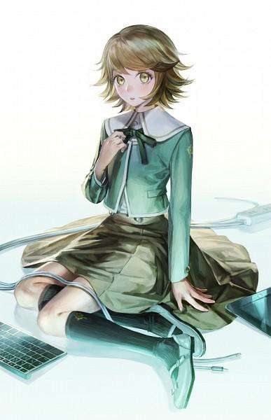 Tags: Anime, Noako, Danganronpa, Fujisaki Chihiro, Keyboard (Computer), Mobile Wallpaper, Pixiv, Fanart From Pixiv, Fanart