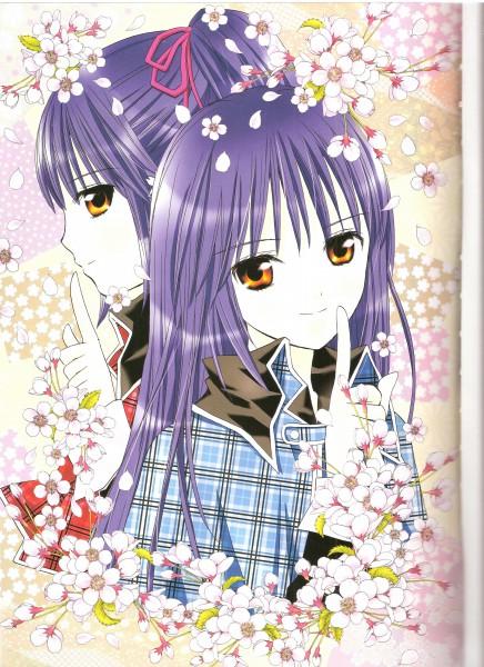 Tags: Anime, PEACH-PIT, Shugo Chara!, Shugo Chara! Illustrations, Fujisaki Nadeshiko, Fujisaki Nagihiko, Scan, Mobile Wallpaper