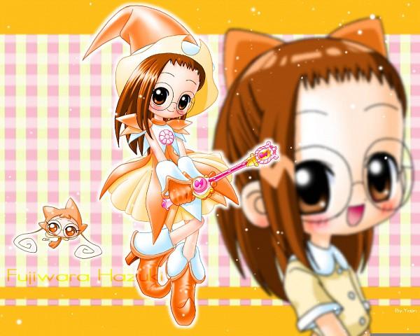 Tags: Anime, Yajin (Artist), Ojamajo DoReMi, Fujiwara Hazuki, ReRe (Ojamajo DoReMi), Rhythm Tap, Picot Poron, Wallpaper, Fanmade Wallpaper