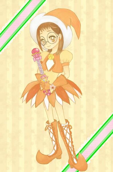 Tags: Anime, Pixiv Id 1764411, Ojamajo DoReMi, Fujiwara Hazuki, Sweet Poron, Parara Tap, Fanart