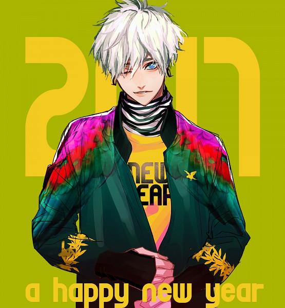 Tags: Anime, Fujiwara Ryo, PNG Conversion, Pixiv, Original, Happy 2017