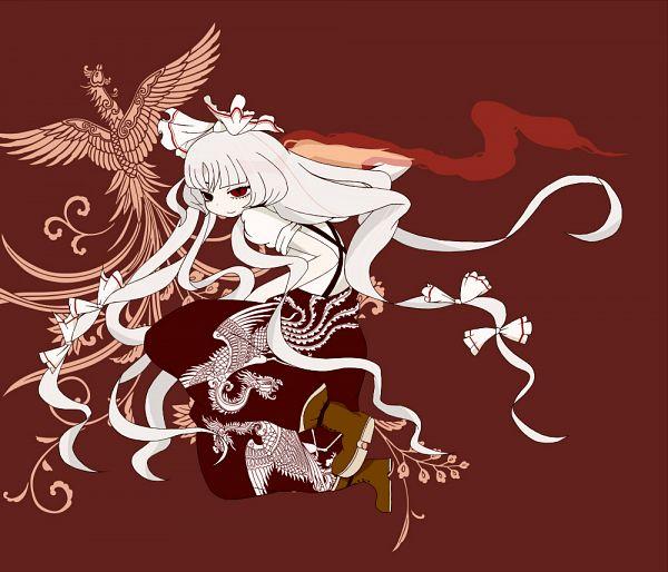 Tags: Anime, Ikyuu, Touhou, Fujiwara no Mokou, Red Pants, Phoenix, Baggy Pants