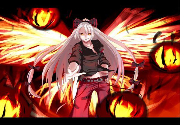 Tags: Anime, rion (glayjirobass), Touhou, Fujiwara no Mokou, Fire Wings