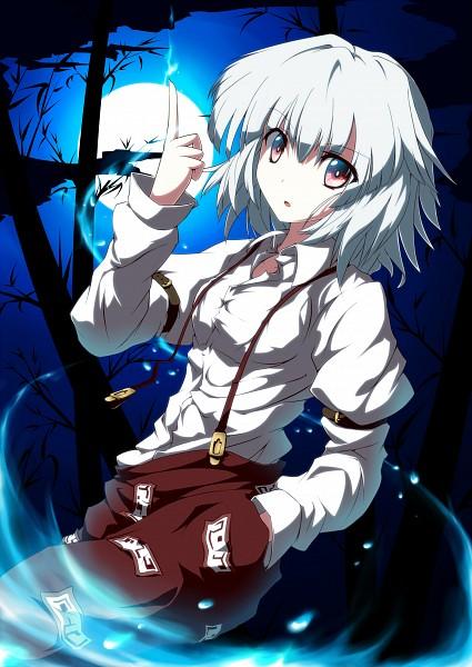 Tags: Anime, UGUME, Touhou, Fujiwara no Mokou, Mobile Wallpaper