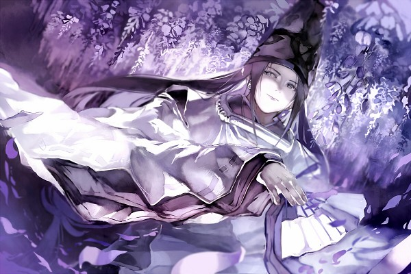 Tags: Anime, Pixiv Id 534010, Hikaru no Go, Fujiwara no Sai, Wisteria, Fanart, Pixiv
