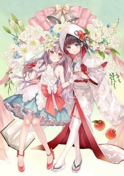 Tags: Anime, Fukahire, White Lily, Shiromuku, Pixiv, Original