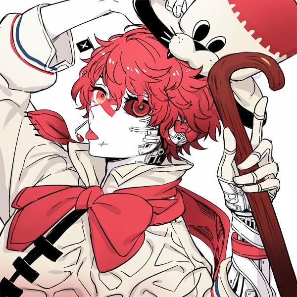 Tags: Anime, Verus, VOCALOID, Fukase (VOCALOID), Red Sclera, Fanart, PNG Conversion, Pixiv, Fanart From Pixiv