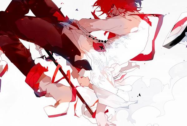 Tags: Anime, Pixiv Id 6091978, VOCALOID, Fukase (VOCALOID), X (Symbol), Patch On The Nose, Fanart, Fanart From Pixiv, PNG Conversion, Pixiv
