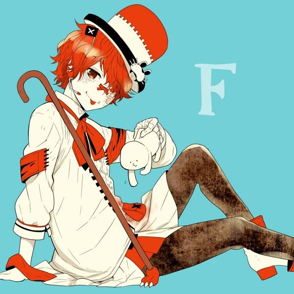 Tags: Anime, kikuchi (kkc), VOCALOID, Fukase (VOCALOID), X (Symbol), Puckering Lips, Pixiv, Fanart From Pixiv, PNG Conversion, Fanart