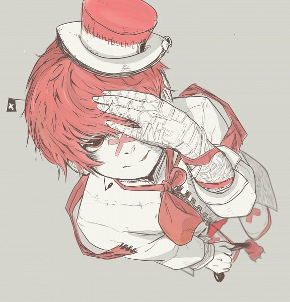 Tags: Anime, Pixiv Id 6360827, VOCALOID, Fukase (VOCALOID), Hand Over One Eye, X (Symbol), Patch On The Nose, Pixiv, Fanart, Fanart From Pixiv