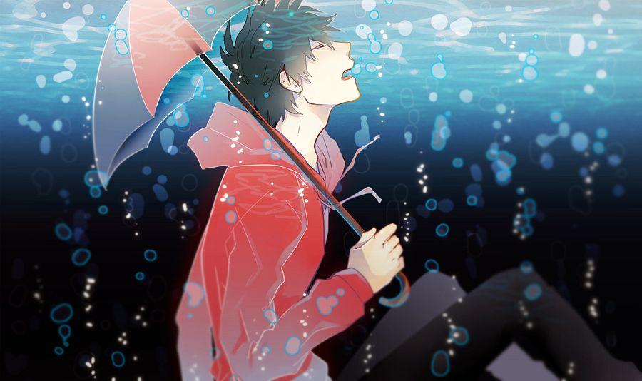 Tags: Anime, GUI, Fukuwa, Red Hoodie, Nico Nico Singer, Pixiv